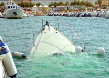 Recupero barche affondate